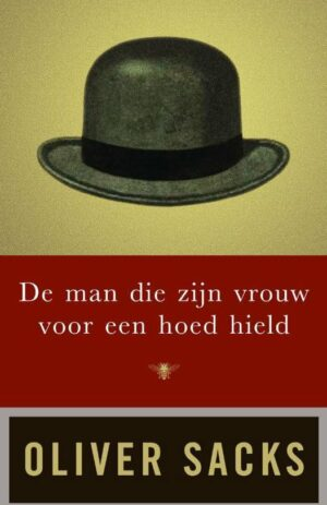 De man die zijn vrouw voor een hoed hield