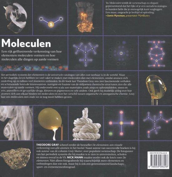 Moleculen achterkant scheikunde